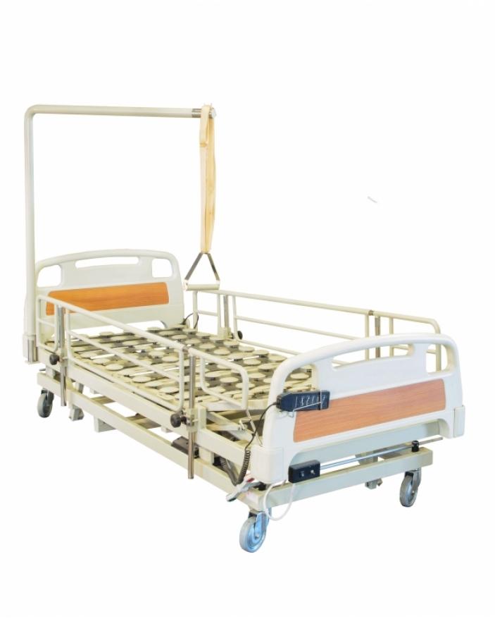Pat spital actionat electric 3 sctiuni ,capete ABS,sistem de ridicare pacient